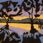 Evening at lower pond